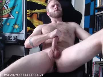 Chaturbate hairycollegedude21 show with toys from Chaturbate.com